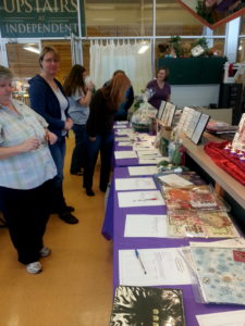 Auction items...ranging from scrapbooking supplies to Starbucks!